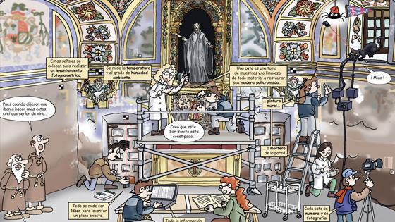 Comic restauración Monasterio de Yuso