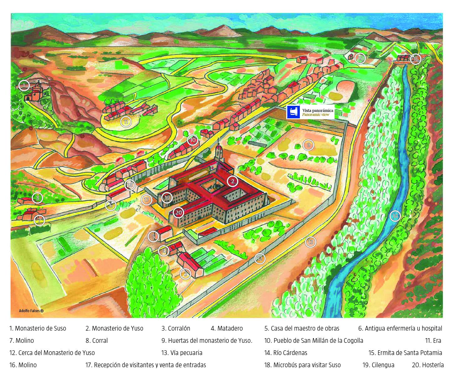 Plano de monasterios de San Millán